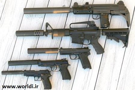 صدا خفه کن انواع اسلحه ها