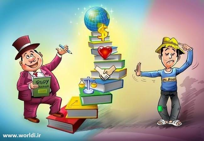 افراد ثروتمند به طور مداوم در حال یادگیری هستند و رشد می کنند. مردم فقیر فکر می کنند آنها همه چیز را می دانند.