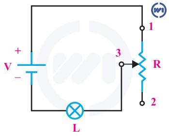 اتصال مقاومت متغیر به صورت رئوستا
