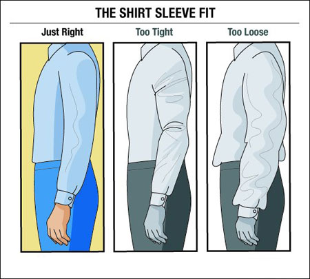مناسب ترین اندازه آستین پیراهن