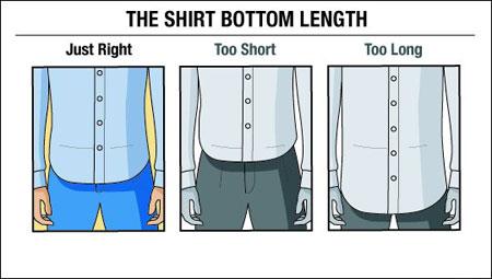 اندازه مناسب قد پیراهن