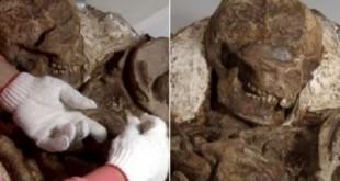 آغوش ۴۸۰۰ ساله یک مادر +عکس
