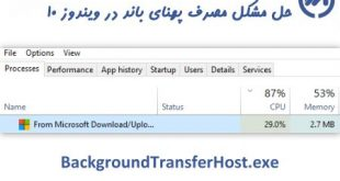 آموزش غیرفعال کردن BackgroundTransferHost.exe