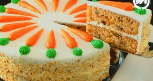 کیک هویچ و دارچین