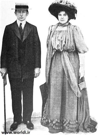 گولیلمو مارکونی و همسرش