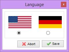 انتخاب زبان