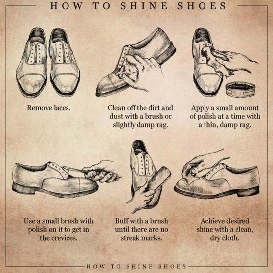 برق انداختن کفش ها